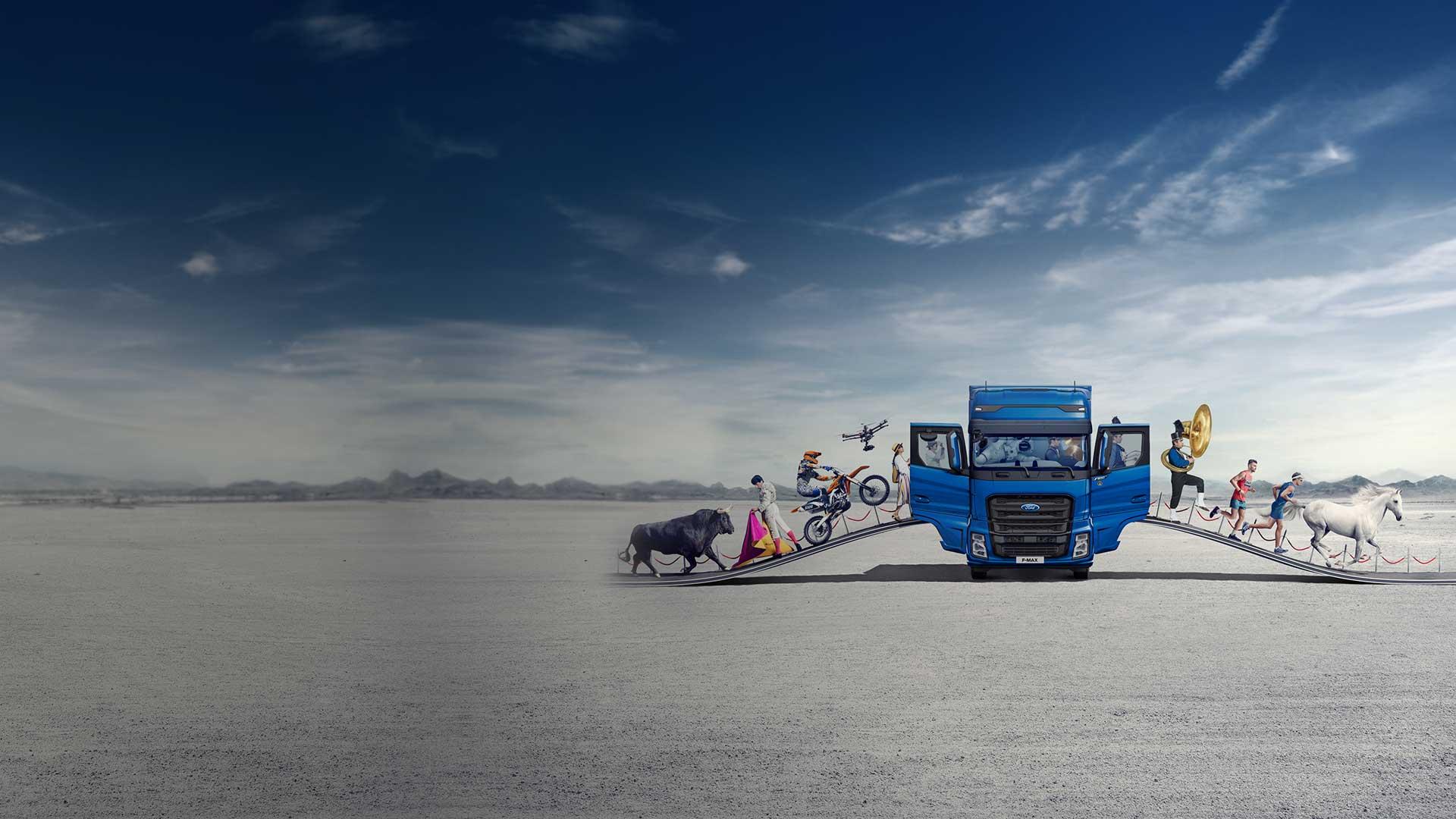 Il nuovo gigante: <br>Ford Trucks  <br>F-MAX!