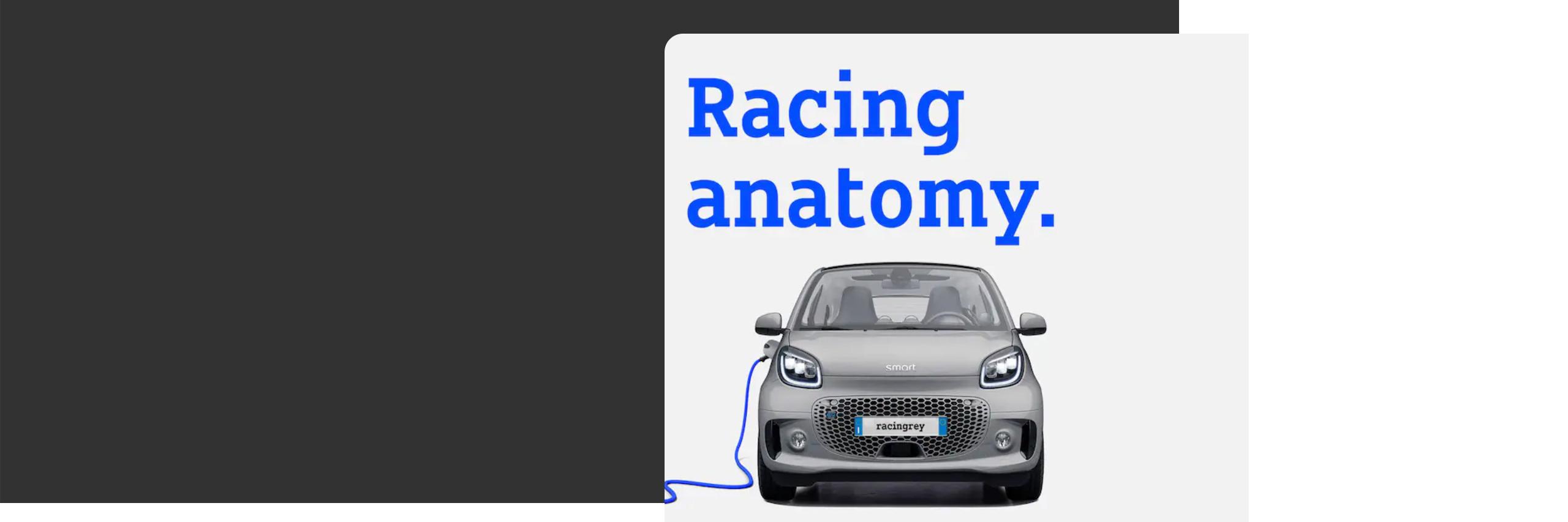 Nuova smart EQ fortwo racingrey.